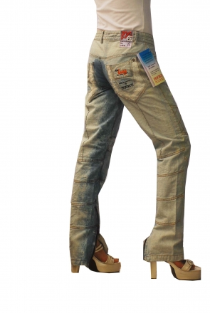 BUCK`s - LOHAS BJ126 Limited No.117 Öko Röhrenjeans 27/32 bleached -Miss twy-