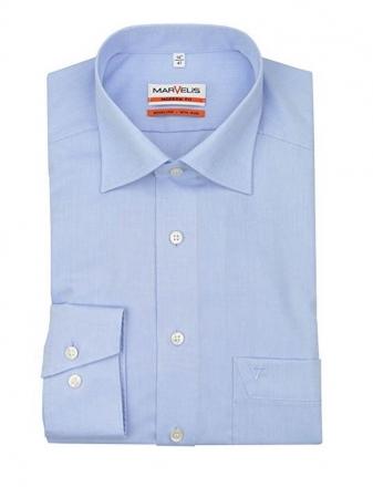 MARVELiS-Hemd MODERN-FIT (Slim-Fit) 4704-69-11 h.blau Extra langer Arm