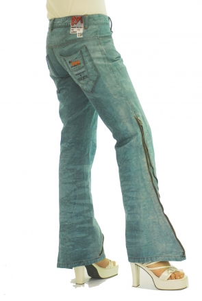 BUCK`s - LOHAS BJ72 Limited No.11 Öko Röhren/Schlag Jeans 29/31 blue -Miss twy-