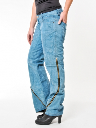 BUCK`s - LOHAS BJ146 Limited No.72 Öko Röhren/Schlag Jeans 32/31 blue -Miss twy-
