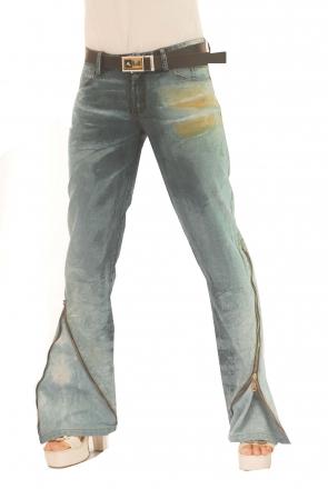 BUCK`s - LOHAS BJ65 Limited No.4 Öko Röhren/Schlag Jeans 28/31 blue -Miss twy-