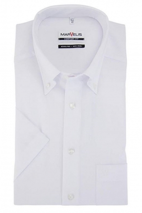 MARVELiS-Hemd 7971-12-00 weiss halbarm Button-Down
