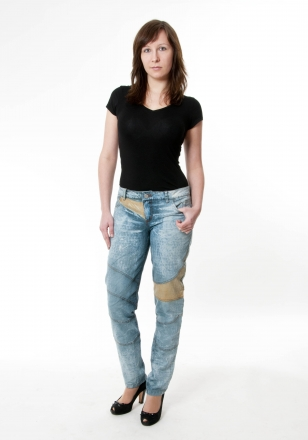 BUCK`s - LOHAS BJ128 Limited No.115 Öko Röhrenjeans 31/31 blue -Miss twy-