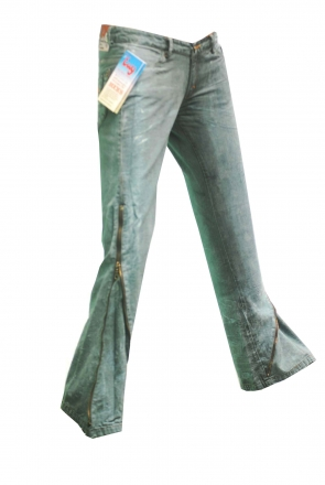 BUCK`s - LOHAS BJ135 Limited No.94 Öko Röhren/Schlag Jeans 30/31 blue -Miss twy-