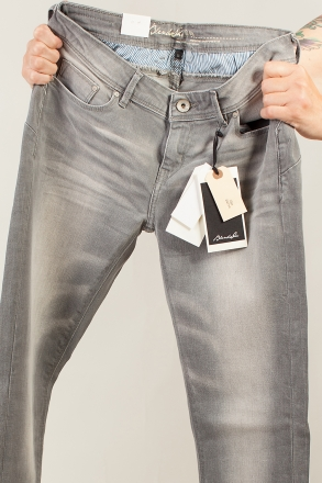 BLEND - She NOVA 200346-29020 Stretch Slim-Jeans grau