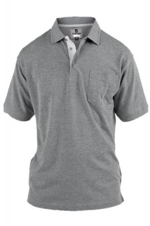 Rockford KS1601GRY Herren Polo T-Shirt grau in Übergrößen