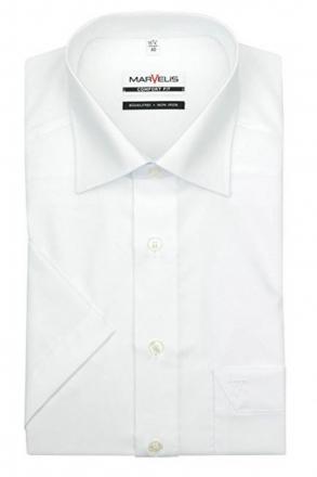 MARVELiS-Hemd 7970-12-00 weiß halbarm Comfort-Fit
