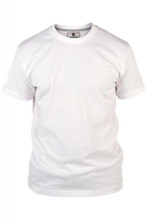 Rockford KS1600 T-Shirt uni weiss Rundhals in Übergrößen
