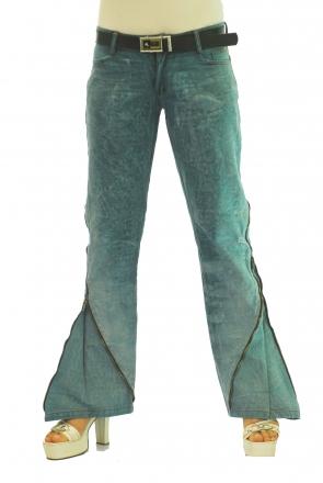 BUCK`s - LOHAS BJ75 Limited No.14 Öko Röhren/Schlag Jeans 29/31 blue -Miss twy-