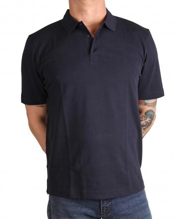 MARVELiS 6417-72-18 Pique Polo T-Shirt uni halbarm marine 50/M