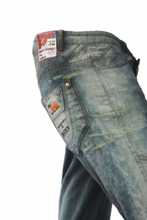 BUCK`s - LOHAS BJ104 Limited No.43 Öko Röhrenjeans 32/32 blue -Miss twy-