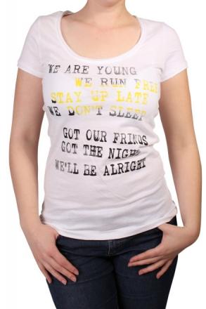 BlendShe 200499-20002 Damen T-Shirt Druck White