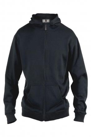 Rockford KS1609 Kapuzen Sweat-Jacke schwarz in Übergrößen schwarz | 58/2XL