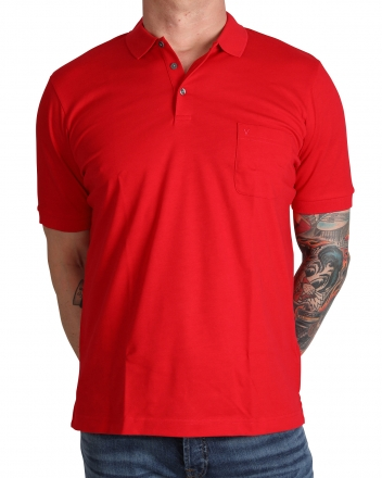 MARVELiS 6410-32-35 Funktions Polo T-Shirt rot 50/M