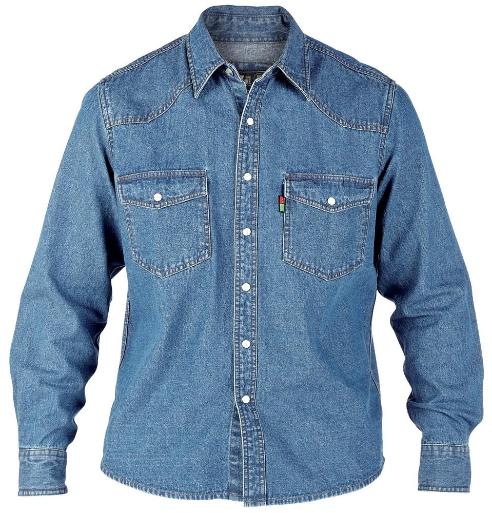designer fashion 9db3d 0c3f6 Duke KS1023 Jeans Western-Hemd blau in Übergrößen