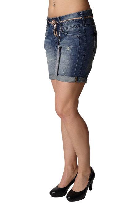 garcia o40121 1047 damen jeans denim short used blue indigo. Black Bedroom Furniture Sets. Home Design Ideas