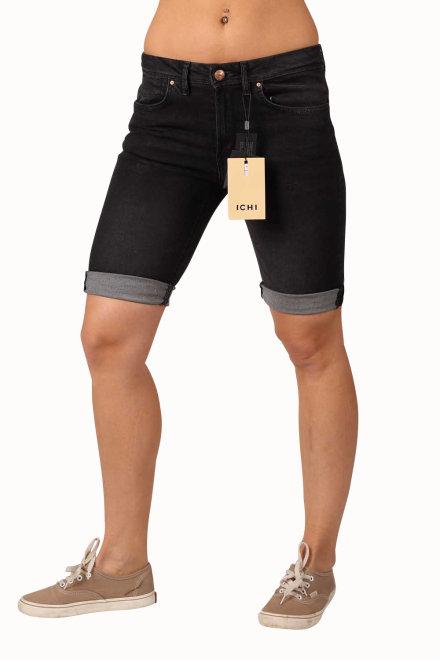 ichi 102315 1942 damen jeans bermuda dark gey wash. Black Bedroom Furniture Sets. Home Design Ideas