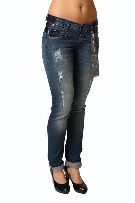 garcia damen stretch jeans lauri u40117 1224 petrol used. Black Bedroom Furniture Sets. Home Design Ideas